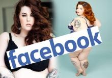 Facebook โดนเละหลังแบนภาพนางแบบอ้วน  Tess Holliday